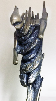 Downhill Racer Life Size Bronze Sculpture 1980 72 in Sculpture by Tom and Bob Bennett