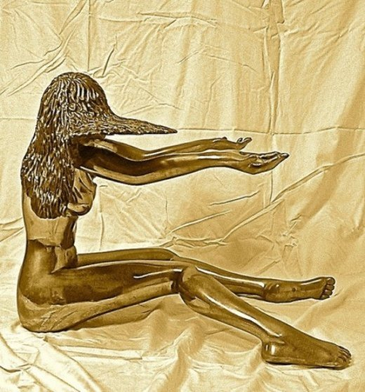 Moonswept Bronze Sculpture 29 in Sculpture by Tom and Bob Bennett