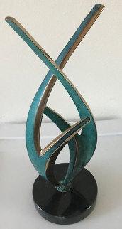 Blossom Study Bronze Sculpture 1989 12 in Sculpture by Tom and Bob Bennett