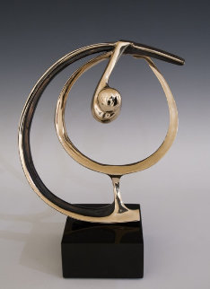 Perfect Swing Bronze Sculpture 13 in Sculpture by Tom and Bob Bennett