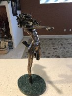 Raindancer Bronze Sculpture 1984 14 in Sculpture by Tom and Bob Bennett - 6