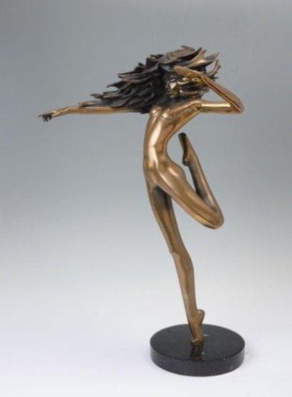 Raindancer Bronze Sculpture 1984 14 in Sculpture by Tom and Bob Bennett