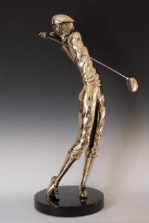 Legends Bronze Sculpture 1987 12 in Sculpture by Tom and Bob Bennett