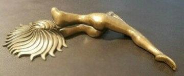 Dreamer Bronze Sculpture 1985 16 in Sculpture by Tom and Bob Bennett