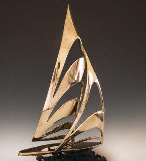 Americas Cup Bronze Sculpture 1985  25 in Sculpture - Tom and Bob Bennett