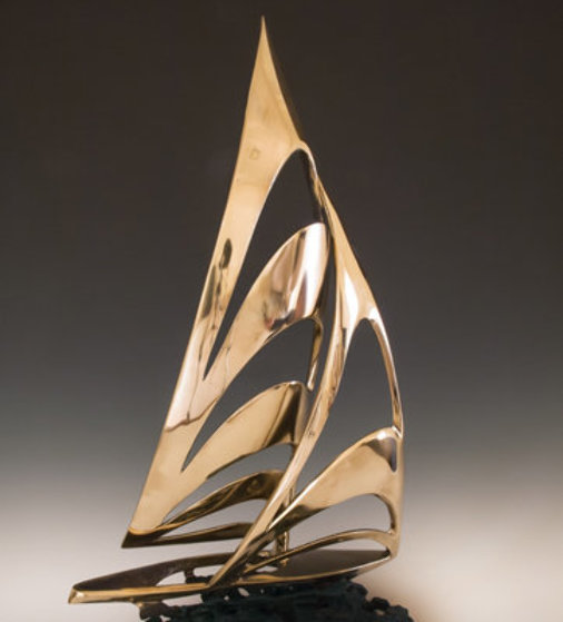 Americas Cup Bronze Sculpture 1985  25 in Sculpture by Tom and Bob Bennett