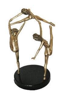 Touch of Spring Bronze Sculpture 1989 20 in Sculpture - Tom and Bob Bennett