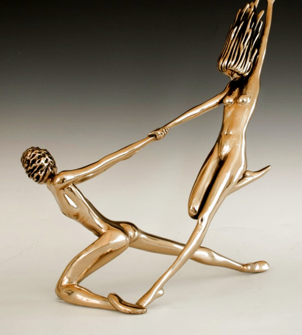 Counterpoise Bronze Sculpture 1985 16 in Sculpture by Tom and Bob Bennett