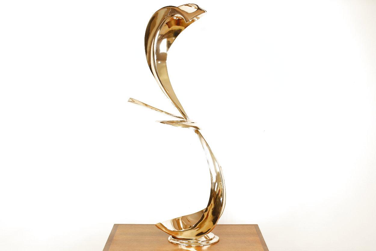 Cobra Bronze Sculpture 1994 45 in Sculpture by Tom and Bob Bennett