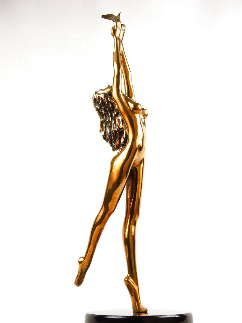Dream Catcher Bronze Sculpture 1996 18 in Sculpture by Tom and Bob Bennett