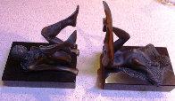 Bookends Bronze Sculpture 1978 8 in Sculpture by Tom and Bob Bennett - 0