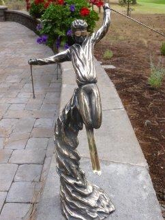 Prima Bronze Sculpture (Skiing) 1988 20 in Sculpture by Tom and Bob Bennett