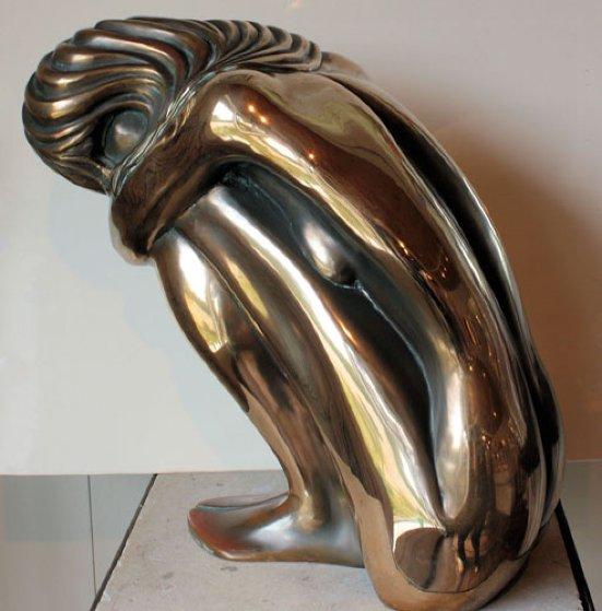 Solitude Bronze Sculpture 1980 7 in Sculpture by Tom and Bob Bennett