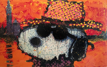 A Guy in a Sharkskin Suit Wearing a Rhinestone Hat at Twilight Limited Edition Print - Tom Everhart