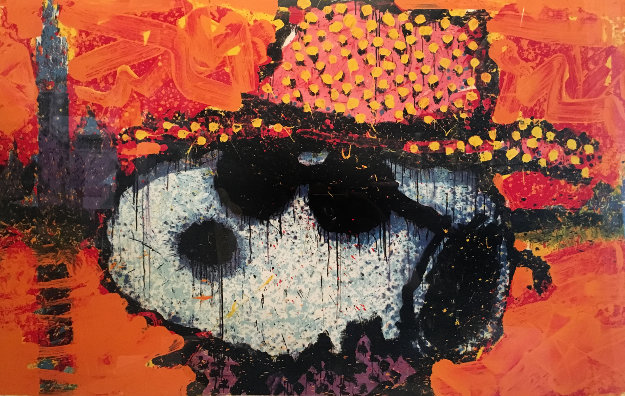 A Guy in a Sharkskin Suit Wearing a Rhinestone Hat at Twilight Limited Edition Print by Tom Everhart
