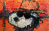 A Guy in a Sharkskin Suit Wearing a Rhinestone Hat at Twilight Limited Edition Print by Tom Everhart - 0
