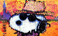 A Guy in a Sharkskin Suit Wearing a Rhinestone Hat at Twilight 2000 Limited Edition Print by Tom Everhart - 0