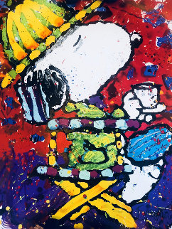 Tea At the Bel Air Beagle Club 7PM 1998 Limited Edition Print - Tom Everhart