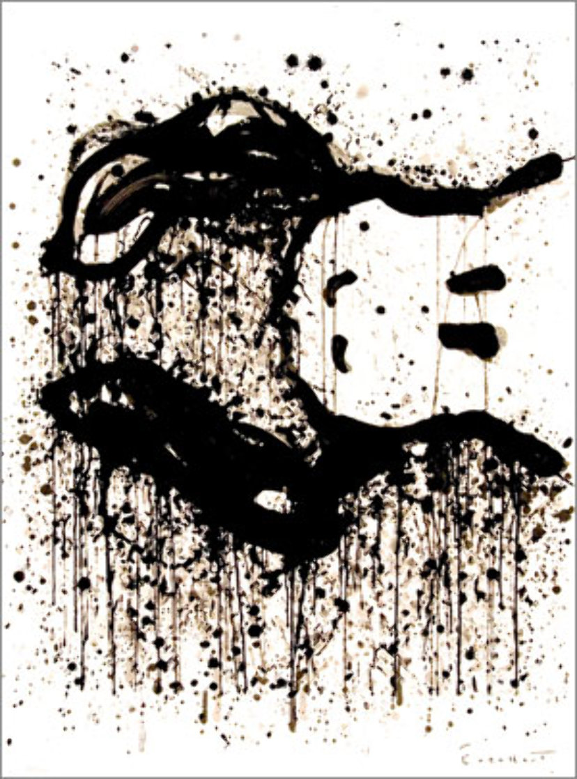 Watch Dog 9 O'Clock 2003 Limited Edition Print by Tom Everhart