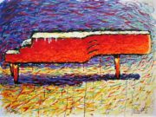 Schroeder's Piano 1995 Limited Edition Print by Tom Everhart