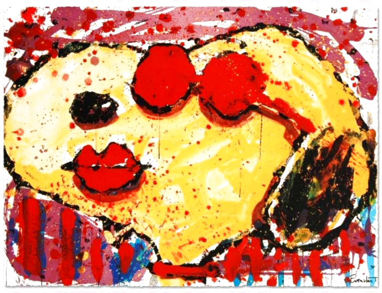 Very Cool Red Lips 2001 Limited Edition Print by Tom Everhart