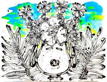 Palm 8:26pm 22x30 Original Painting - Tom Everhart
