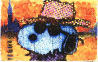 A Guy in a Sharkskin Suite Wearing a Rhinestone Hat At Twilight Limited Edition Print by Tom Everhart - 0
