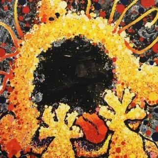 Black Velvet Scream Limited Edition Print by Tom Everhart