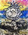 Boom Shaka Laka Laka #52 2007 49x39 Original Painting - Tom Everhart
