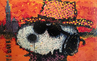 A Guy in a Sharkskin Suit Wearing a Rhinestone Hat atTwilight 2000 Limited Edition Print by Tom Everhart - 0