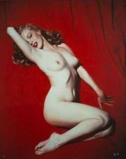 Marilyn Monroe Pose #1, Red Velvet 1949 Photography - Tom Kelley