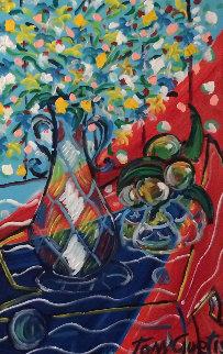 Springtime 40x28 Huge Original Painting - Tony Curtis