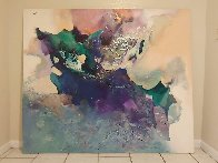 Untitled Painting 1989 60x70 Super Huge Original Painting by Tony Curtis - 1