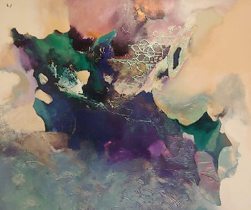 Untitled Painting 1989 60x70 Original Painting by Tony Curtis
