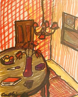 Interior Drawing 1963 18x15 Drawing - Tony Curtis