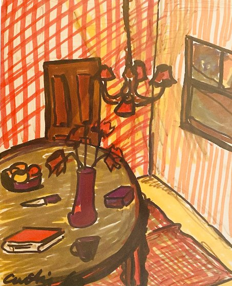 Interior Drawing 1963 18x15 Drawing by Tony Curtis