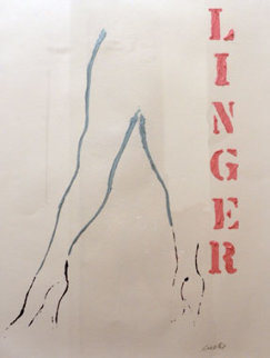 Linger 1998 36x24 Original Painting - Tony Curtis