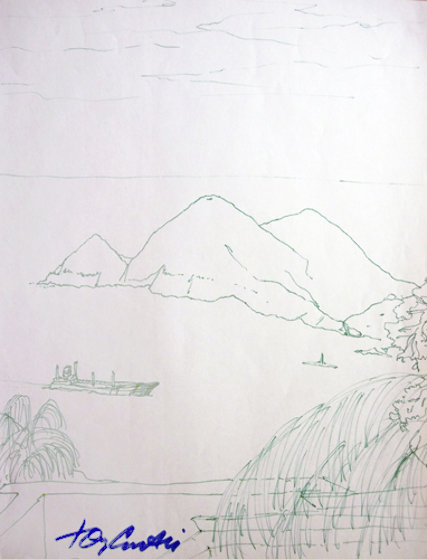 Hawaiian Memories Drawing 2004 Drawing by Tony Curtis