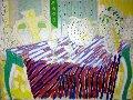 Old Dutch 46x57 Original Painting - Tony Curtis