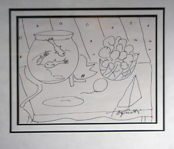 Peaceful Moment 23x19 Drawing by Tony Curtis
