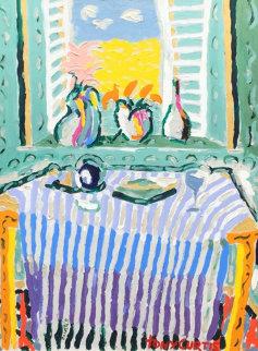 Sunlight Through the Shutters 63x52 Huge Original Painting - Tony Curtis