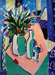 Tulips and Wine 1987 Limited Edition Print by Tony Curtis