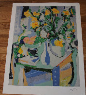 Yellow Flowers With Fruit 1987 Limited Edition Print by Tony Curtis - 2