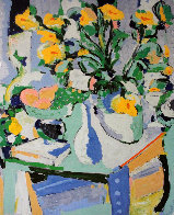 Yellow Flowers With Fruit 1987 Limited Edition Print by Tony Curtis - 0