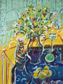 Bouquet 1990 36x46 Super Huge Original Painting - Tony Curtis