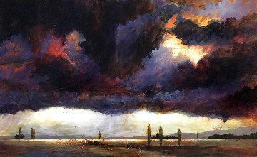 Peace Shall Weep 2001 26x40 Original Painting - Gwen Toomalatai