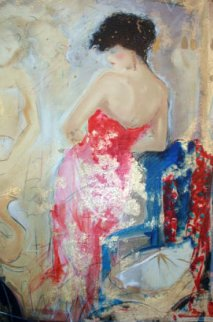Blue Chair 1990 Limited Edition Print by Janet Treby