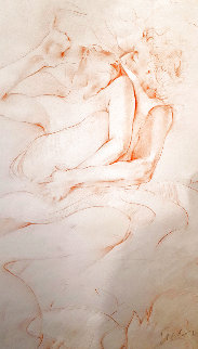 Untitled Drawing of a Couple 1997 15x11 Drawing - Janet Treby