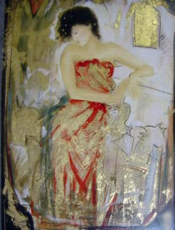 Red Dress Limited Edition Print by Janet Treby