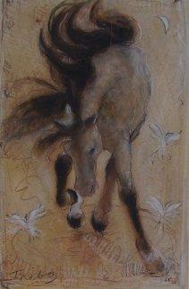 Dancing Horse Watercolor - Janet Treby